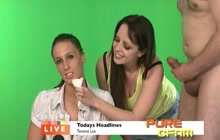 News Girl Facialized On Live TV