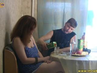 Drunk Russian Stepmom Slut Fabiana And Son