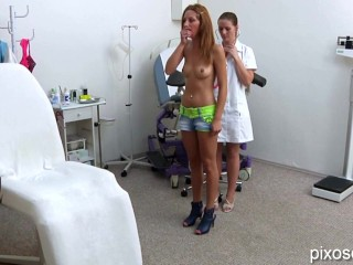 Slim Redhead Getting Gyno Exam