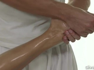 Great Massage For Redhead Leads To Cream Pie