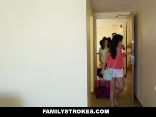 FamilyStrokes – Hotel Room Fun With Step-SIs