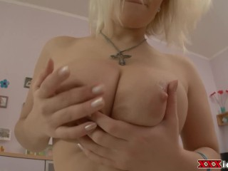 Big Tit Amateur Loves Cock And Toy In Her Ass
