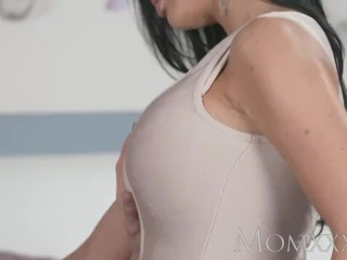MOM Milf With Massive Fake Boobs Is Creampied