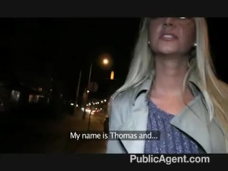 PublicAgent – Blonde MILF Get Fucked For Cash