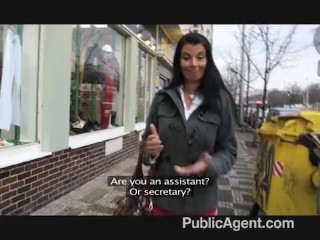 PublicAgent – Hot Brunette MILF Great Tits