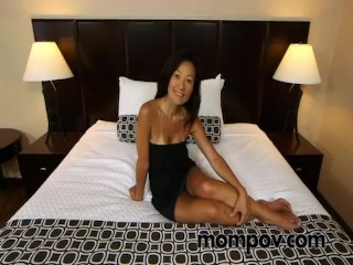 Horny Asian Milf Takes Cock