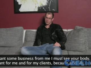 Czech – Sexy MILF Impressed With Geeks Cock