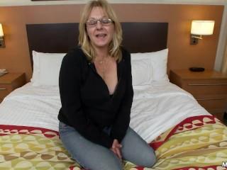 MILF POV Granny Does First Porn
