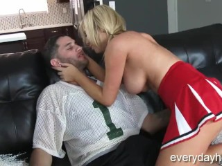 Huge Tit MILF Wants To Be A Cheerleader