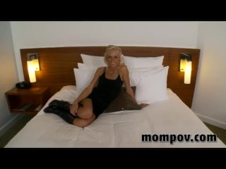 Horny Blonde MILF Takes Cock Up The Butt