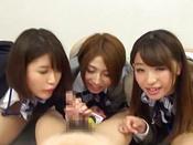 Hot CFNM Show Along Three Horny Japanese Beauties In Heats