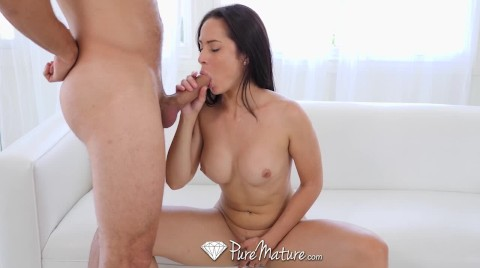PUREMATURE MILF Cums Hard With Big Dick In Her Tight Ass