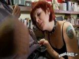 Emo Redhead Takes Black Cock