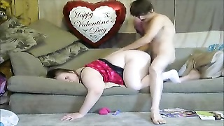 Magnificent Mom Takes Son Virginity Rear End  Style With A Creampie To Mommy Vagina