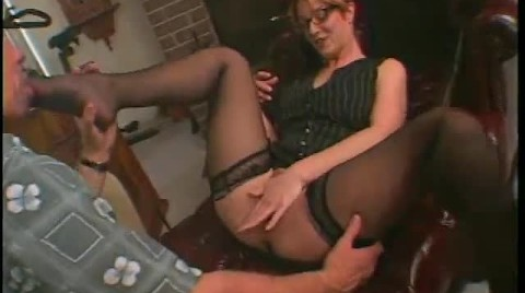 Hot Slut In Black Stockings Sweetly Sucks And Fucks Guy's Dick In Room