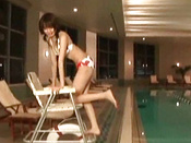 Amateur And Pretty Japanese Girl In Bikini Is Posing Her Body