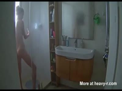 Hot Sister Showering