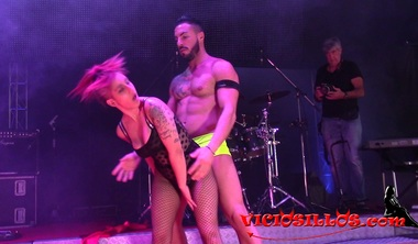 Redhead Spanish Teen Hard Fucked On Stage At SEM 2018 Cam2