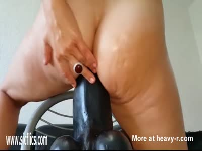 Trying Out Insane Big Dildo