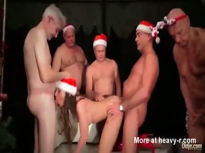 Old Men Gangbang Teen For Christmas