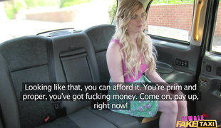 Carly Has No Money To Pay For A Ride In Female Fake Taxi