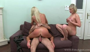 Two Hot And Slutty Blondes Lana And Lea On Fake Casting Pt2