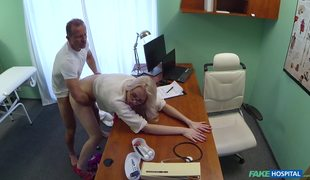 Blonde Beauty Lexi Lou Takes Care Of Doctor's Dick