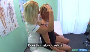 Fake Nurse And Sexy Patient In Lesbian Sex Action