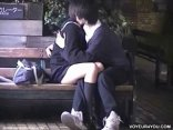 Amateur Asian Teen (18+) Couple Making Out In Public