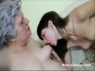 Young Girl Licks Granny's Tits