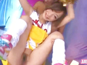 Kinky Cheerleader Pussy Licking