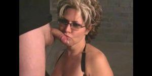 Mature Woman Gives Blowjob