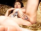 Reiko Hanasaki Rubs Pussy With Long Nails And Puts Vibrator On It