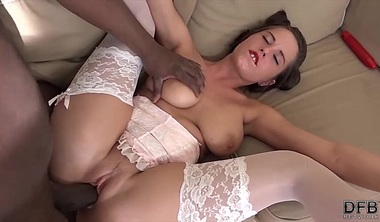 Can Her Ass Take All This Black Cock And Take It All Inside