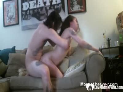 Pounding Inked Slut Hard On Sofa