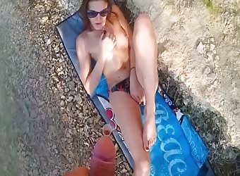 Fucking With Girlfriend Outdoors By The Lake
