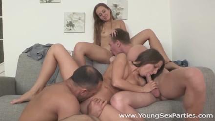 Young Sex Parties – Foxy Di – Limonika – Teen Sluts Fucked Head To Head