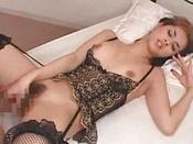 Teasing Brunette In Stockings Is Having Real Penetration