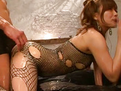 Oiled Fishnets Honey Slammed Doggy