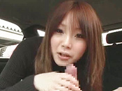 Insatiable Asian Model With Red Hair Is Sucking Cock In The Car