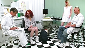 German Medical And Gynecological Fetish With Group Sex