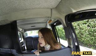 Simply Perfect Redhead Teen Fucks In Fake Taxi