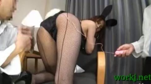 Japanese Office Babe Group Sex