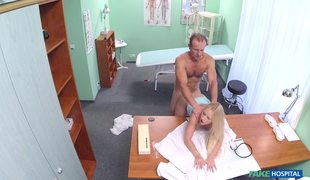 Busty Bitch Rossella Hardcore Drilled In Fake Doctor's Office