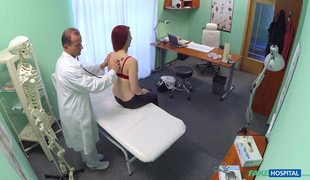 Redhead Patient Isabella L Tries Fake Doctor's Cock
