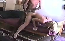 Blonde Whore Takes Brutal Interracial Fucking