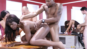 Brazzers Ultimate Group Interracial Orgy With Seven People