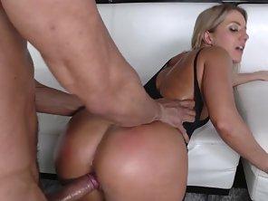 Blond Slut In Body Stockings Gets Pussy Screwed Hard