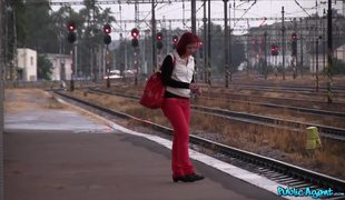 Train Station Quickie With Redhead Amateur Slut Alice Nam