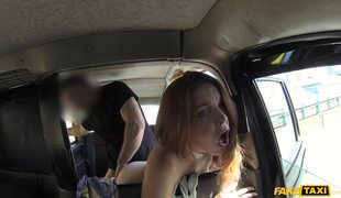 Redhead Gal Amarna Miller Plays With Fake Cabbie's Cock